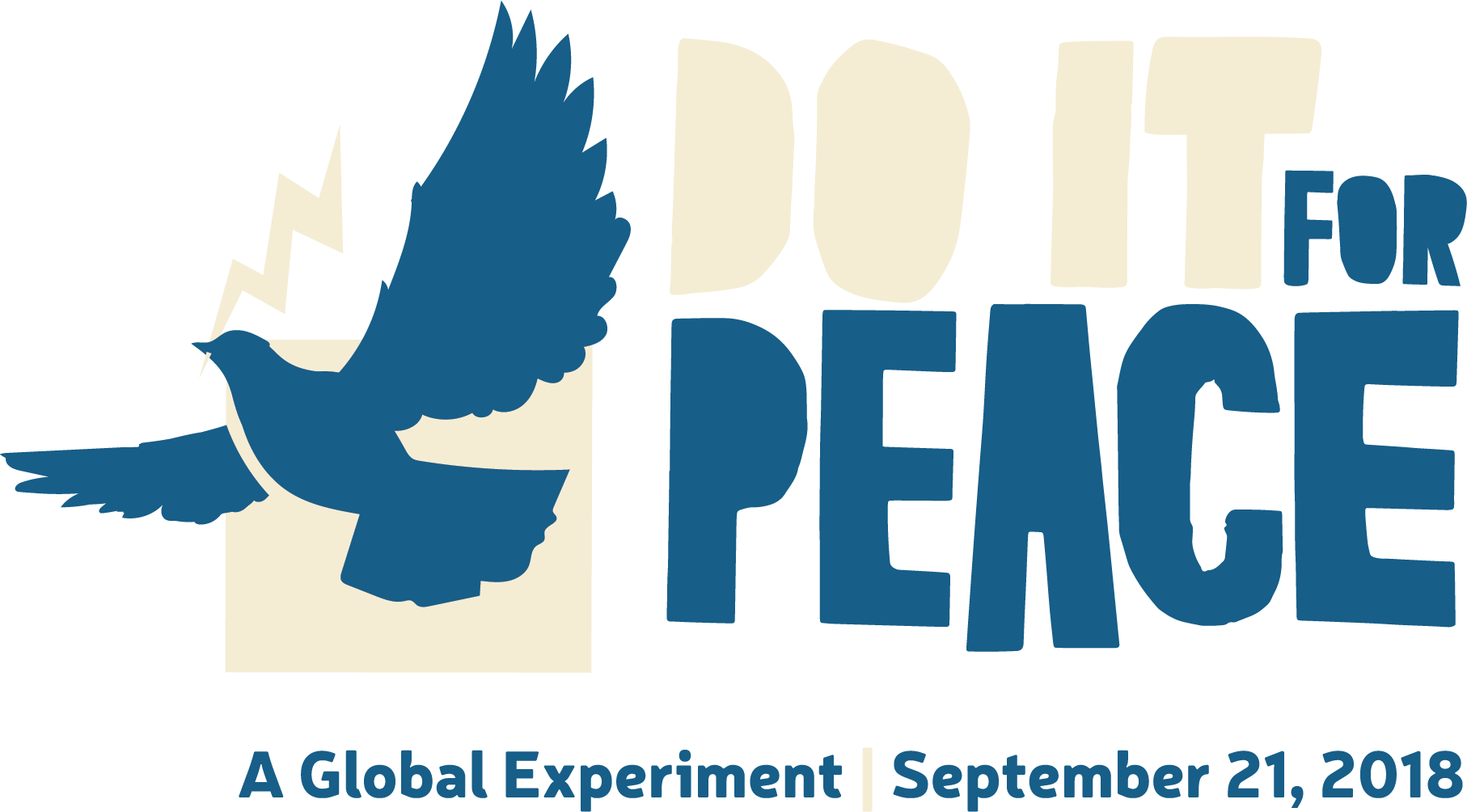 DoItForPeace Logo+Tag Horizontal (for dark backgrounds)